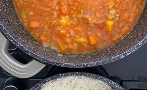 תבשיל ירקות כתומים של יעל גולדמן (צילום: יעל גולדמן)