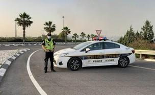 מחסום משטרה, אילוסטרציה (צילום: דוברות המשטרה)