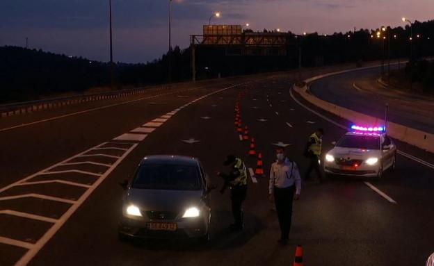 כבישי ישראל ריקים בערב ראש השנה (צילום: החדשות )