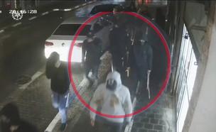 תיעוד תקיפה ביפו (צילום: דוברות המשטרה)