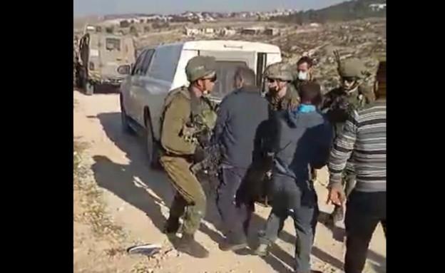 """עימותים בין כוחות צה""""ל לפלסטינים ליד חברון"""