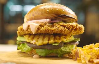 המבורגר עוף של סופרמיט (צילום: סופרמיט, יחסי ציבור)