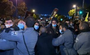 המחאה בעקבות מותו של אהוביה סנדק (צילום: זיו שילוח)