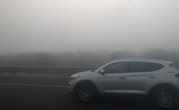ערפל כבד בכביש 1, הבוקר