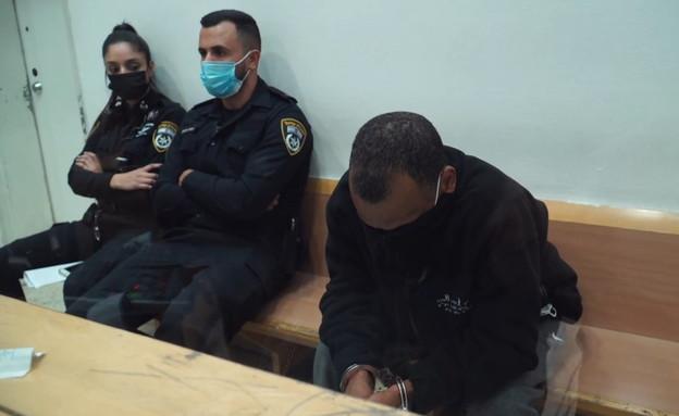 החשוד ברצח בת זוגו לטרישיה לני פוינטר (צילום: החדשות 12)