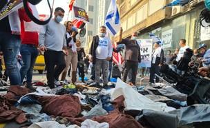 מחאת העצמאיים (צילום: החדשות 12)