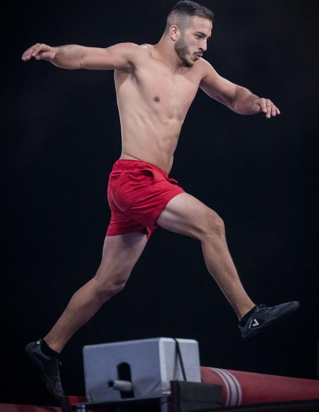 יוסי בלנד בחצי הגמר (צילום: עודד קרני)