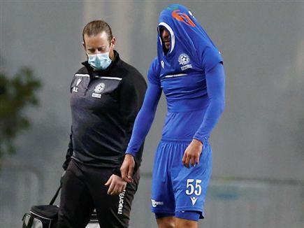 סבג. נפצע במפשעה (אלן שיבר) (צילום: ספורט 5)