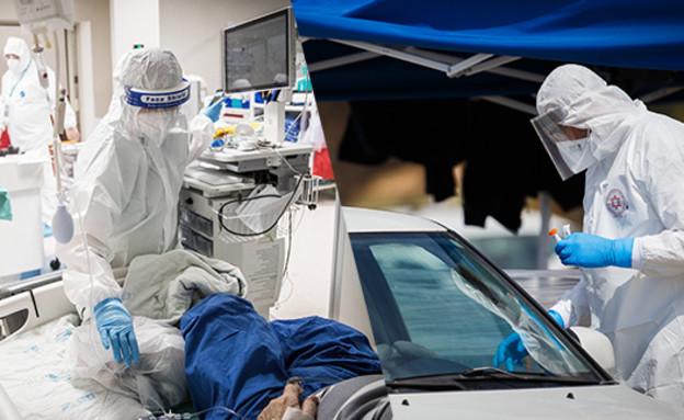 שיא במספר החולים קשה (צילום: יונתן זינדל, פלאש 90)