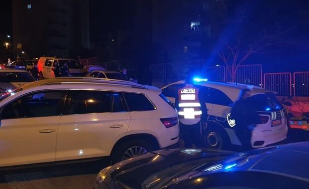 זירת האירוע בחיפה (צילום: איחוד הצלה)