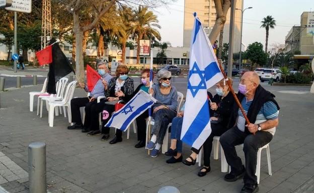 הפגנה נגד נתניהו (צילום: N12)