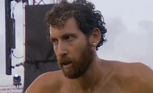 """אדם ברוטמן בחצי הגמר (צילום: מתוך """"נינג'ה ישראל 2021"""", קשת 12)"""