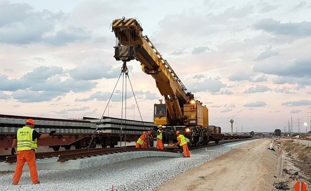 עבודות תשתית ברכבת ישראל (צילום: רכבת ישראל )