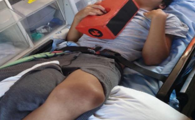 """ריקוד הטיקטוק הסתיים באשפוז בבית החולים (צילום: מתוך """"חדשות הבוקר"""" , קשת 12)"""