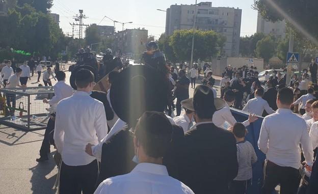מהומות חרדים באשדוד (צילום: ישי יחיאל)