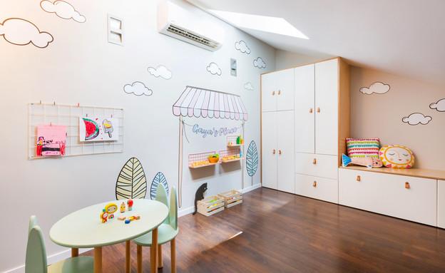 חדר ילדים פעיל, עיצוב ויטל פרי שילטון ומיקה אלטר (צילום: טלי דברת)