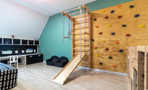 חדר ילדים פעיל, עיצוב צביה ברלינסקי (צילום: רון ברלינסקי)