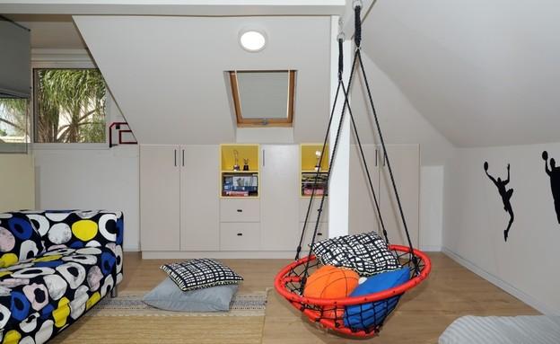 חדר ילדים פעיל, עיצוב רבקה סיטרין (צילום: ערן תורג'מן)