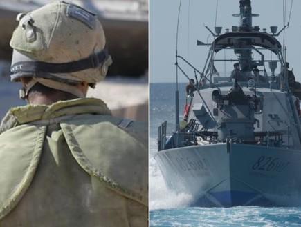"""כוחות בים וביבשה (צילום: דובר צה""""ל )"""