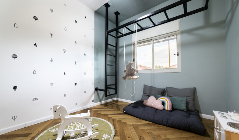 חדר ילדים פעיל, עיצוב דקלה פנירי (צילום: אסף ברנר)
