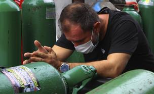 מחסור בחמצן בברזיל (צילום: AP Photo/Edmar Barros)