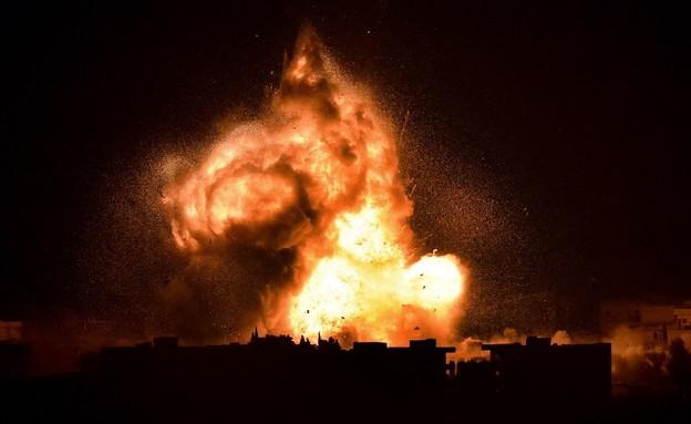 תקיפה בסוריה (צילום: ARIS MESSINIS/AFP, GettyImages)