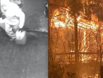 ביתו של מתיו קאמפ עולה באש (צילום: מתוך עמוד האינסטגרם matthewcamp@, instagram)