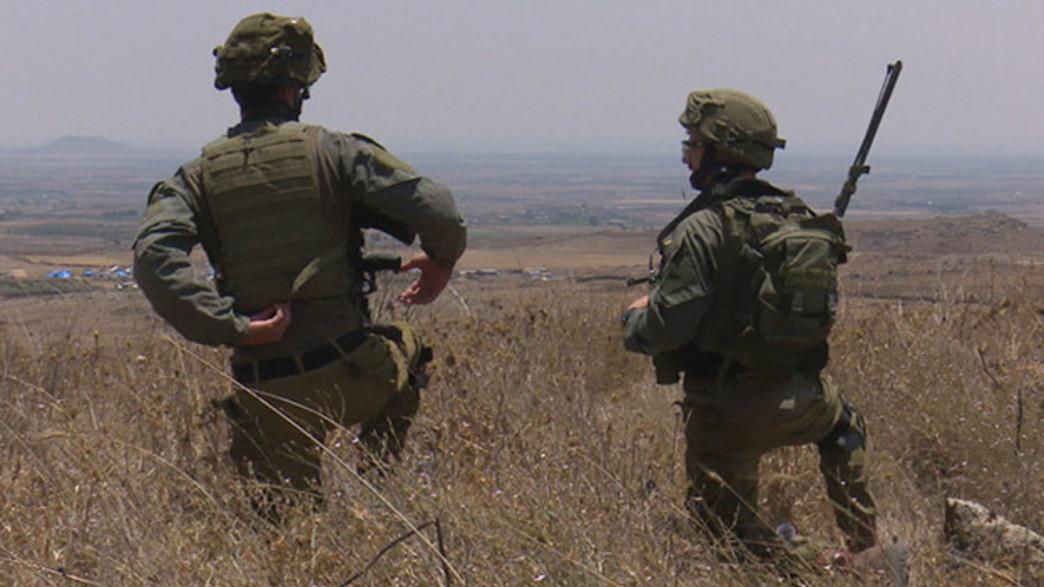 """לוחמי צה""""ל בגבול (צילום: החדשות)"""