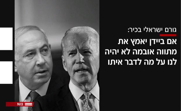 ציטוט גורם ישראלי בכיר (עיצוב: N12)