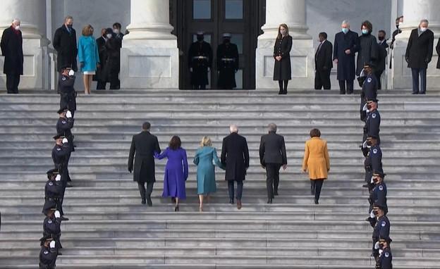 השבעת הנשיא ג'ו ביידן (צילום: רויטרס)