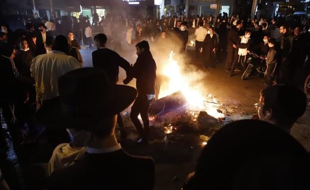 הפגנה בבני ברק (צילום: איתן אלחדז, TPS)