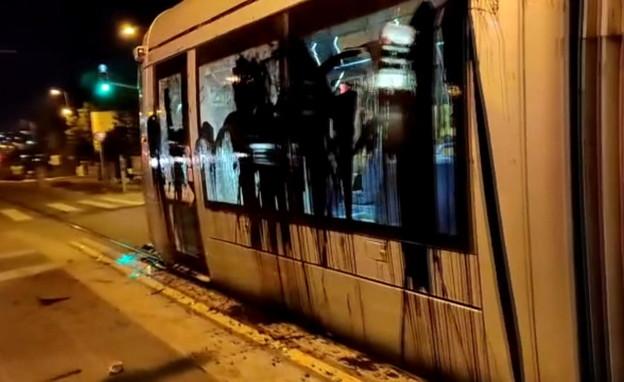 השחתת הרכבת הקלה בירושלים (צילום: חיים גולדברג, כיכר השבת)