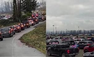 מפגן המחאה של קהילת מישן בקנדה (צילום: מתוך עמוד האינסטגרם jacquie_claggett@ , instagram)