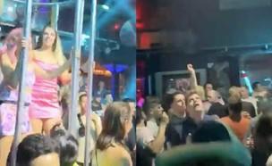 בליינים במועדון  (צילום: מתוך עמוד הטוויטר matterial_girl@, twitter)