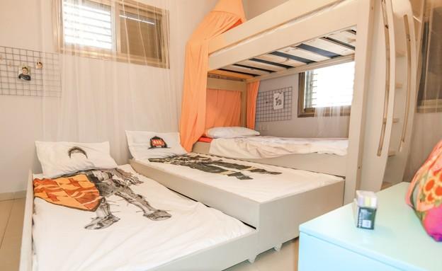 חדרי ילדים משותפים, עיצוב טל מימון (צילום: שחר קלאורה)