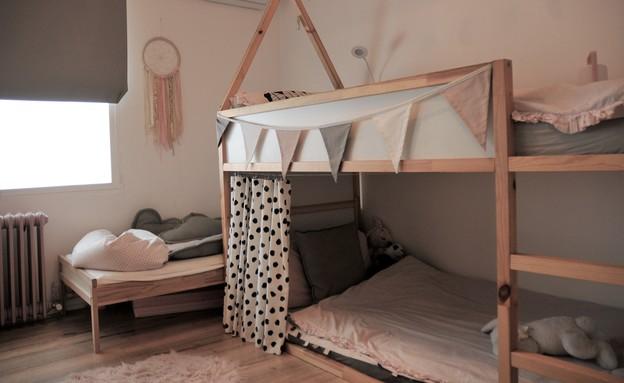 חדרי ילדים משותפים, עיצוב מיכל מזרחיד (צילום: דודו מזרחיד)
