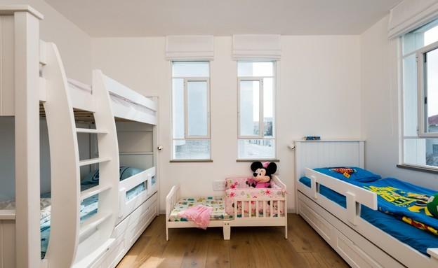 חדרי ילדים משותפים, אדריכל רון שפיגל (צילום: רגב כלף)