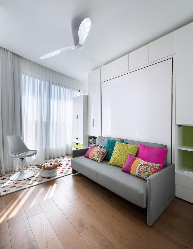 חדרי ילדים משותפים, ג, עיצוב מיכל האן (צילום: עמית גושר)
