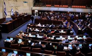 מליאת הכנסת בהצבעה על התפזרותה לקראת בחירות 2020 (צילום: אוליבייר פיטוסי, פלאש 90)