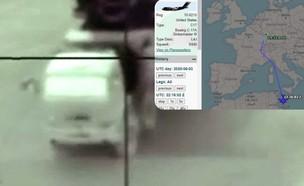 המערכת וטיסה שמיוחסת למבצע (צילום: IDF /vcdgf555, Twitter)