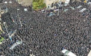 הלוויה המונית של הרב סולובייצ'יק בירושלים