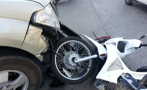 תאונת אופנוע, אילוסטרציה (צילום: shutterstock)