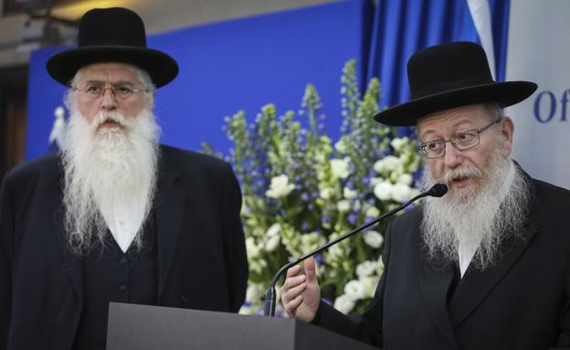 יעקב ליצמן לצד מאיר פרוש (צילום: הדס פרוש, פלאש 90)