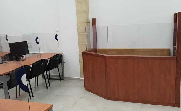 האולם בו יתנהל משפט נתניהו. (צילום: אריה בן וייס , החדשות 12)