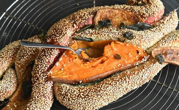 חלת ירקות צלויים פראית - רחלי קרוט (צילום: רחלי קרוט)