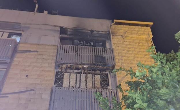 המבנה שנשרף בבית שאן (צילום: דוברות כבאות והצלה)