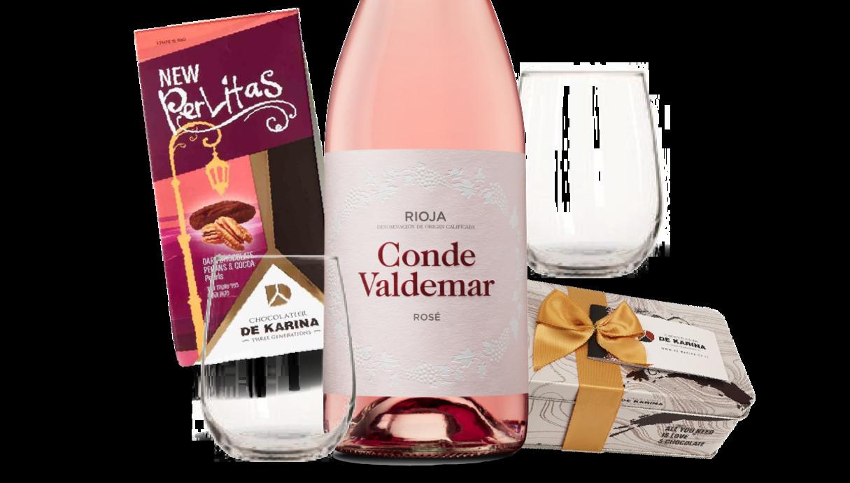 יין ורוד של רשת יין בעיר