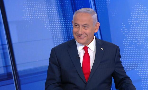 ראש הממשלה נתניהו באולפן (צילום: N12)