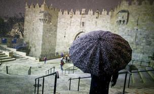 שלג בירושלים (צילום: אהרון קרון, פלאש 90)