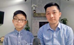 קיילב צ'אנג שהשתתף בניסוי החיסון נגד קורונה על ילדים בני 12 עד 15